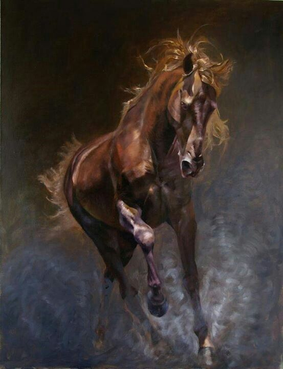Horse painting art
