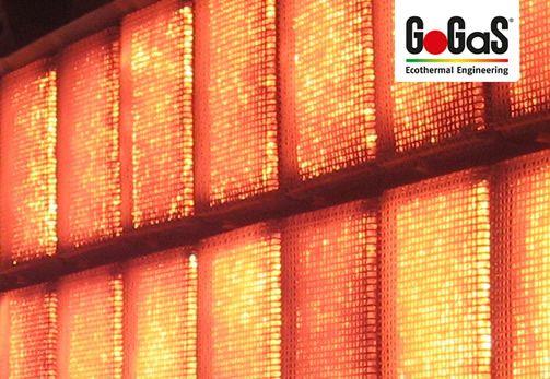 GoGaS Porenstahler RADIMAX: Eine Verbrennung der Gase im Kern des Strahlers ermöglicht eine Kerntemperatur von 1450°C. Weitere Informationen erhalten Sie unter www.gogas.com oder unter www.porenstrahler.de.