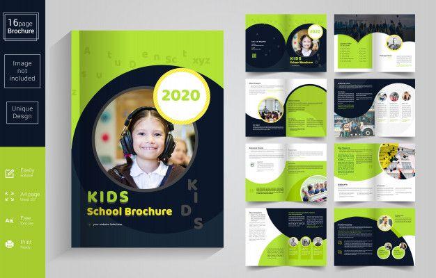 Abstract School Kids Brochure Template Kids Brochures School Brochure Brochure Design Template
