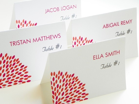 Modern Bloom Place Cards  Escort Cards  by LittleSparkCreations