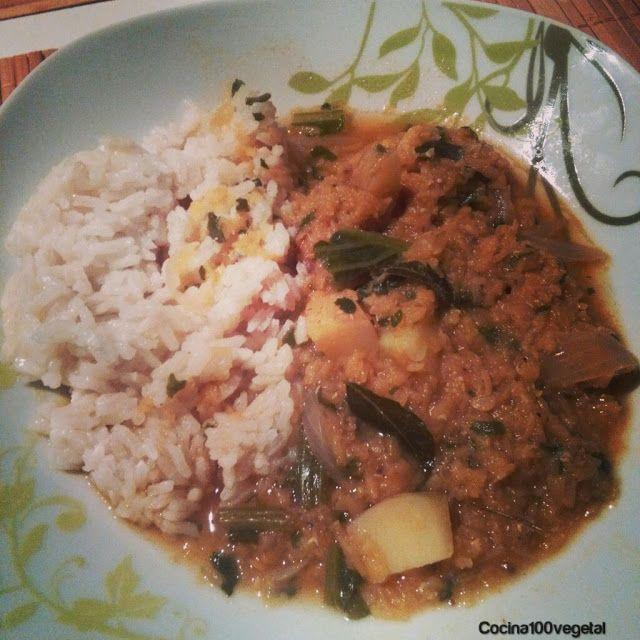 Cocina100%Vegetal: Potaje de lentejas naranjas