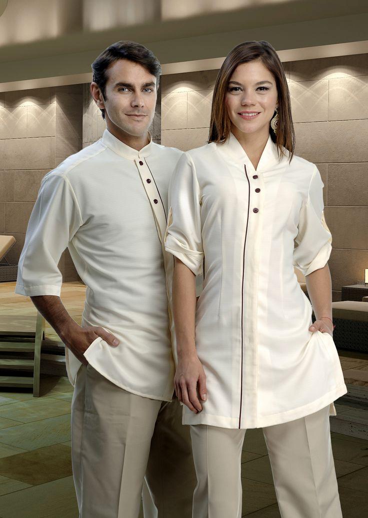 Uniforme unisex para empleados de restaurante http://www.creacionesred.com.mx/