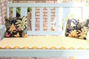 DIY no sew bench or swing cushion