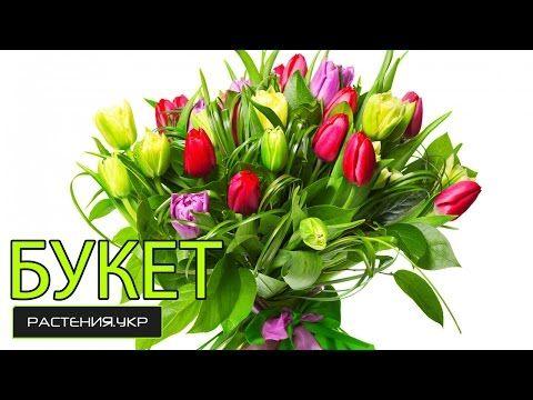 Букет цветов / Как сделать оригинальную композицию из 5-ти тюльпанов? / Композиции из цветов - YouTube