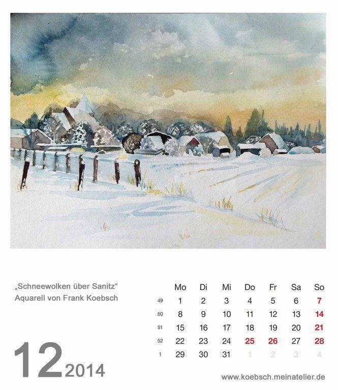 Kalender 2014   Kalenderblatt Dezember 2014