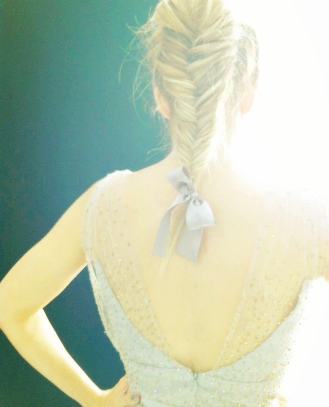 Lauren Conrad + fishtail braid