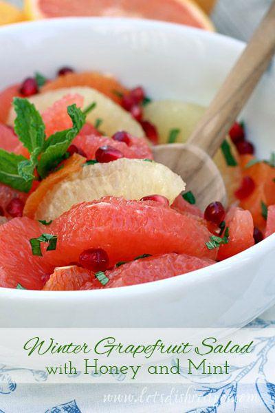Winter Grapefruit Salad with Honey and Mint #FlGrapefruit #CleverGirls