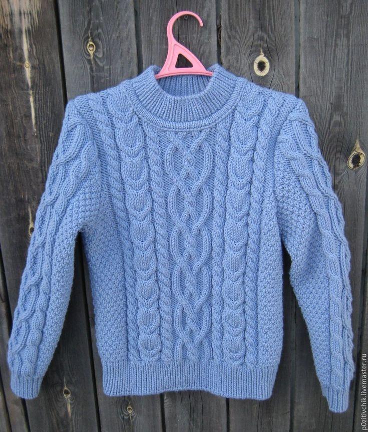 Купить Свитер мужской ручной вязки - свитер мужской, свитер, свитер вязаный, свитер для мальчика