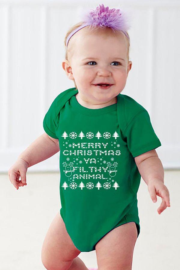 Toddler Baby Girls Bodysuit Short-Sleeve Onesie Merry Christmas Cool Logo Print Outfit Winter Pajamas