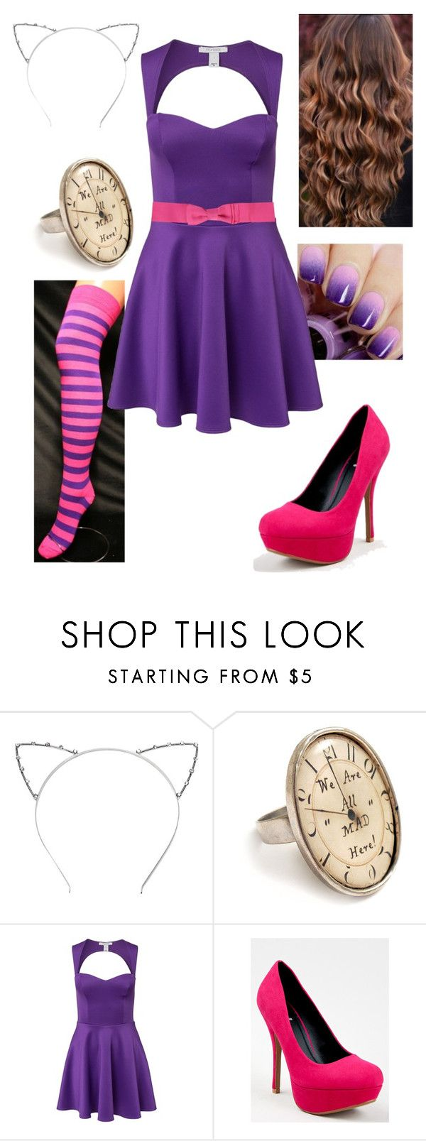 """""""Disney Bound - Cheshire Cat"""" by briony-jae ❤ liked on Polyvore featuring Oneness, Qupid and Lanvin"""