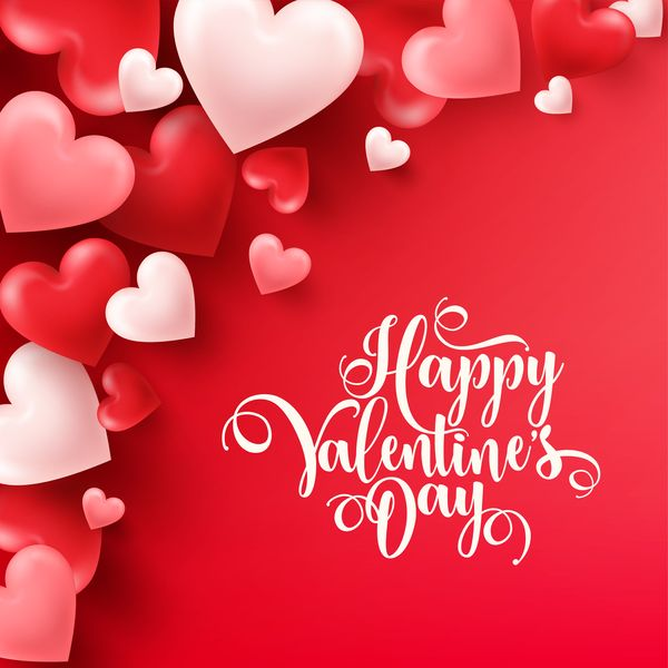 Free Eps File Heart Shape Valentine Card With Red Background