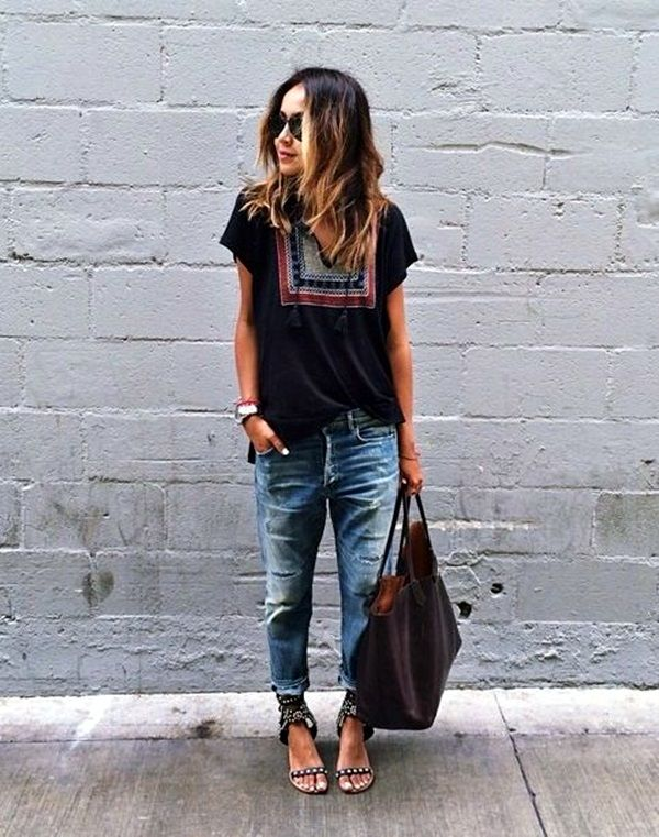 25  best ideas about Boyfriend jeans outfit on Pinterest ...