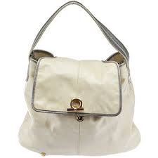 Image result for Anya Hindmarch vintage ivory white Leather Hobo