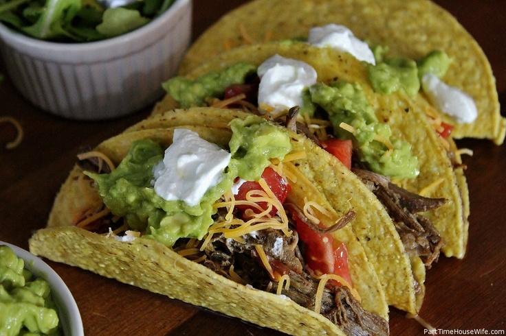 Crockpot Shredded Beef Tacos | Dinner Recipe's | Pinterest