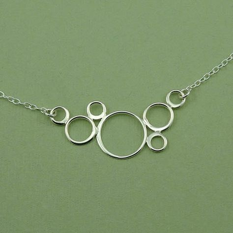 Circle+Necklace++art+deco+necklace+sterling+silver+by+TheZenMuse