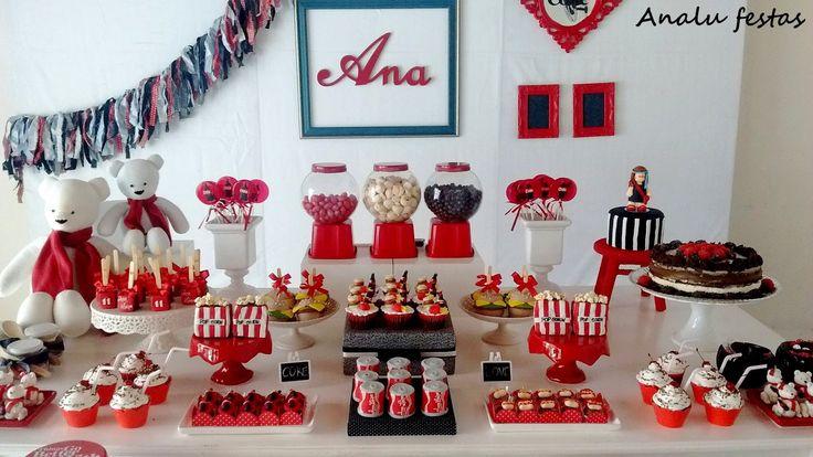 ANALU FESTAS: Festa Tema Coca Cola para Ana Luísa                              …
