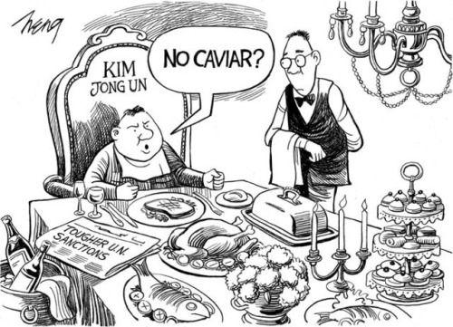 Cartoon: Heng on Sanctions Against North Korea #hydrogenbomb...: Cartoon: Heng on Sanctions Against North Korea #hydrogenbomb…