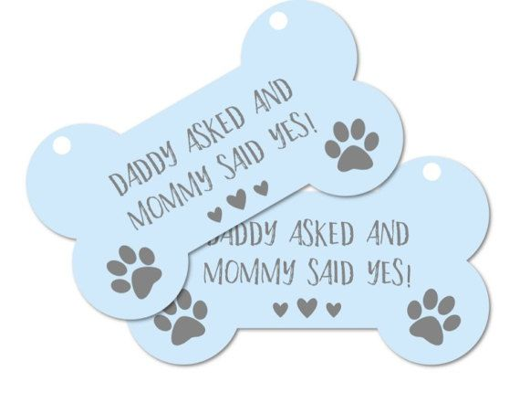 Printable Engagement Photo Prop Dog sign Daddy asked and Mommy