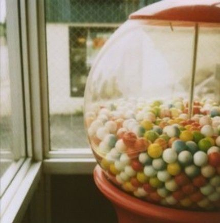Happiness is seeing the gumball you want rolling into your hands :D