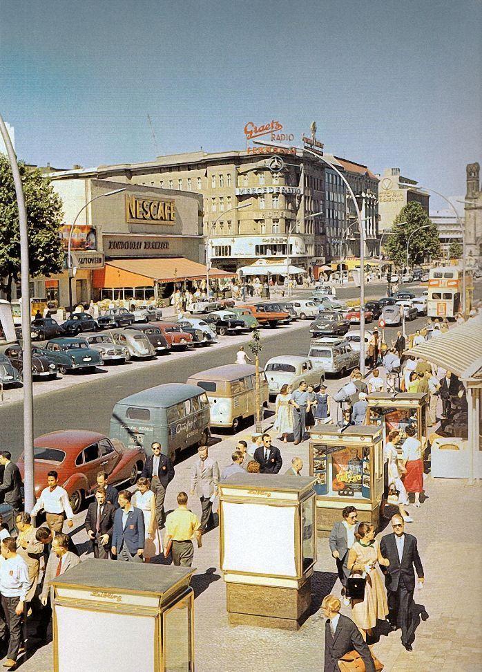 ca.1956Konditorei Kranzler und Kurfuerstendamm Berlin