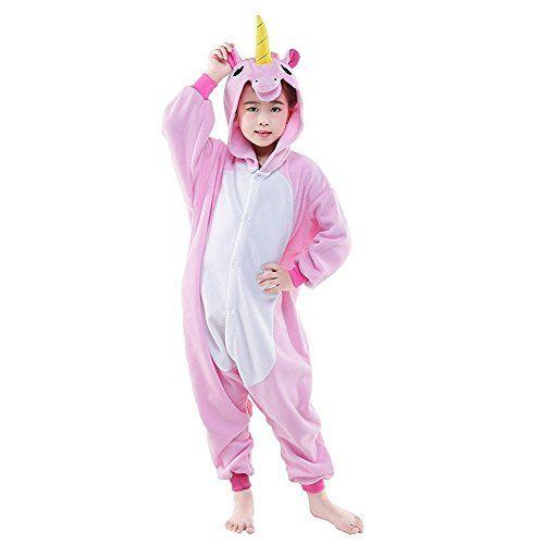 Abyed Einhorn Kostum Jumpsuit Onesie Tier Fasching Karneval