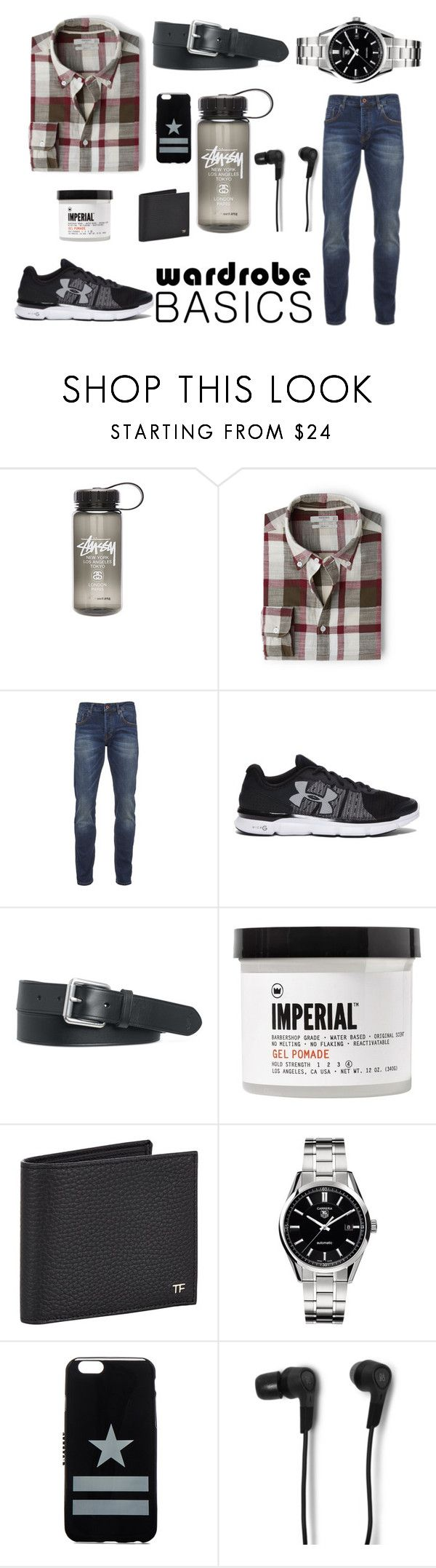 """""""heey"""" by ashfur123 on Polyvore featuring Stussy, MANGO MAN, Scotch & Soda, Under Armour, Polo Ralph Lauren, Imperial Barber Products, Tom Ford, Tag Heuer, Givenchy and B&O Play"""