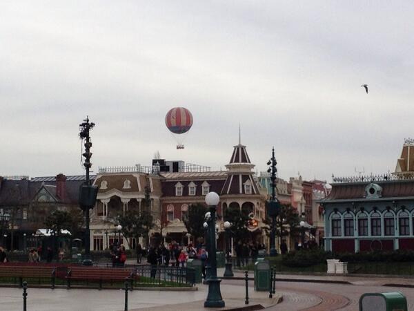 #Disneyland Paris. The Panoramagique hot air Balloon over Main Street #DLP #DLRP #Disney