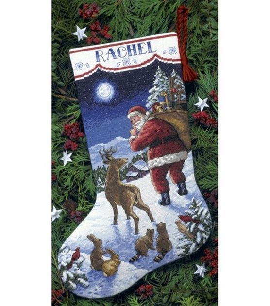 Dimensions Counted Cross Stitch Kit Santa's Arrival Stocking at Joann.com