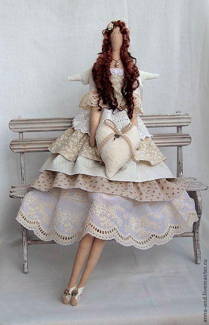 Куклы Тильды ручной работы. Ярмарка Мастеров - ручная работа Фея любви Айвори. Handmade.