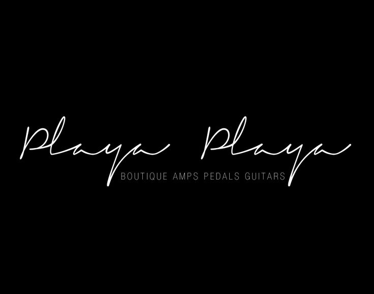 "Branding for former sydney guitar store ""Playa Playa"""