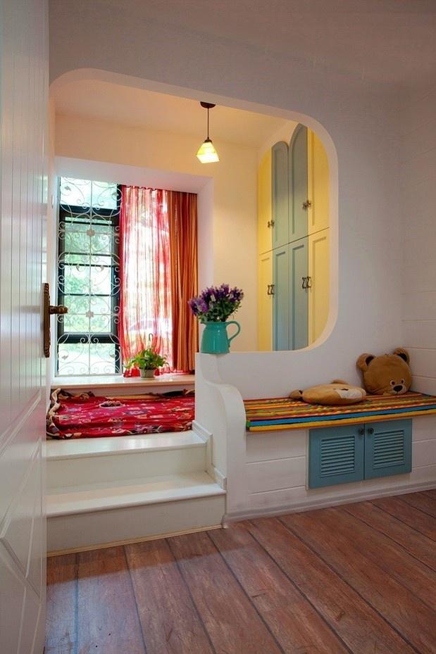 La ventana de la bahía estera ventana dormitorio Yifei hombre grueso colchón de espuma almohadilla de alfombra personalizada pad ...