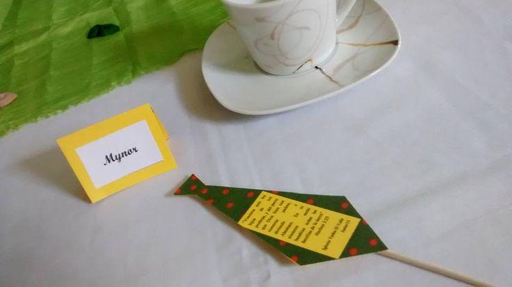 Tarjeta de sitio con souvenir Día del Padr