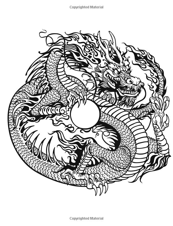 Adult Coloring Books Dare Dragons Stress Relieving Dragon Designs