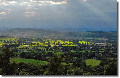 View west from the Malvern Hills to Herefordshire