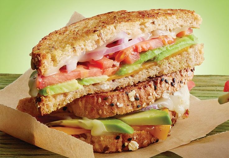 California Avocado grower Randy Axell loves to make this grilled cheese sandwich with cheddar and pepper jack cheeses, Fresh California Avocado, tomato, red onion and chili sauce.