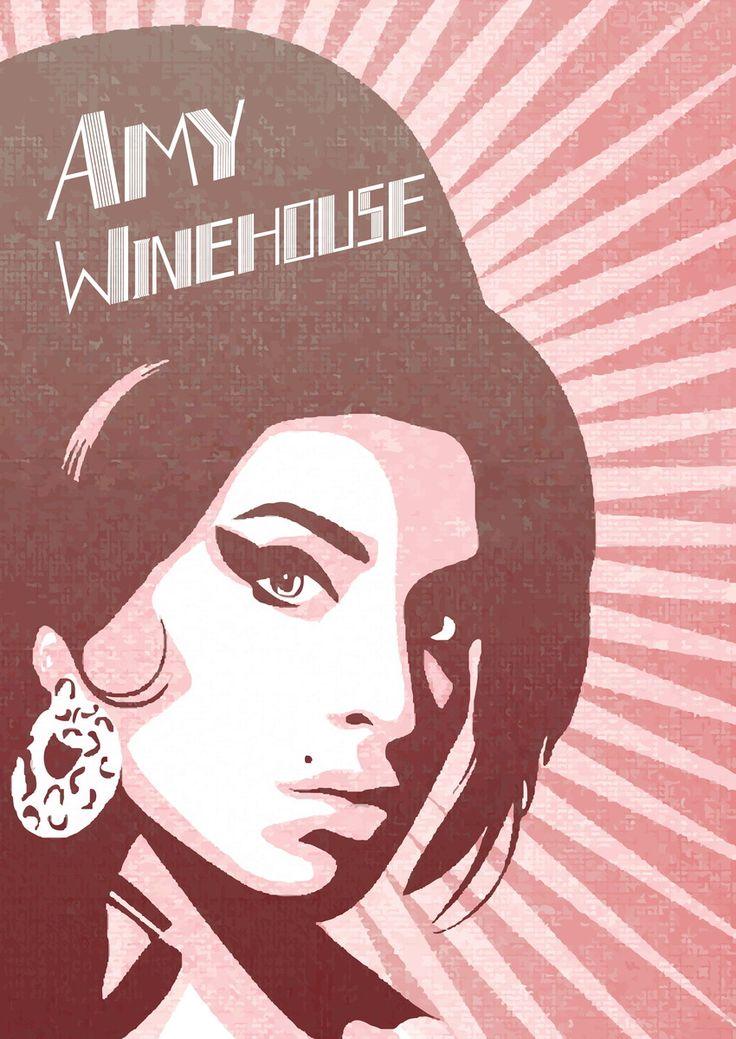 Poster 'Amy winehouse' com moldura | Dependure | Elo7