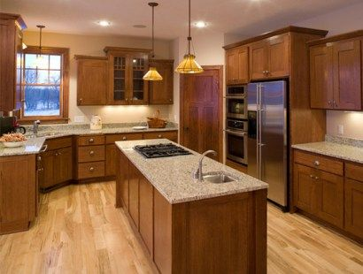 This would be the kitchen without painting cabinets. best paint colours for dark oak kitchen cabinets ia benjamin moore muslin