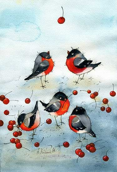 ❤️Cherry Cottage ~ Artist Vika Kirdiy