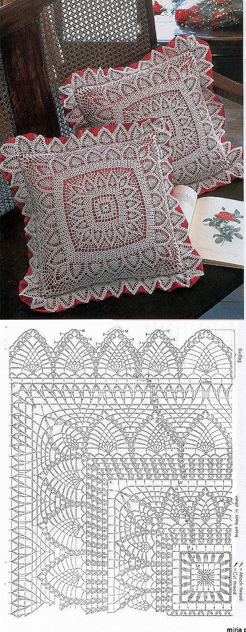 Spruce up any standard square#pillow with this#crochet #facelift