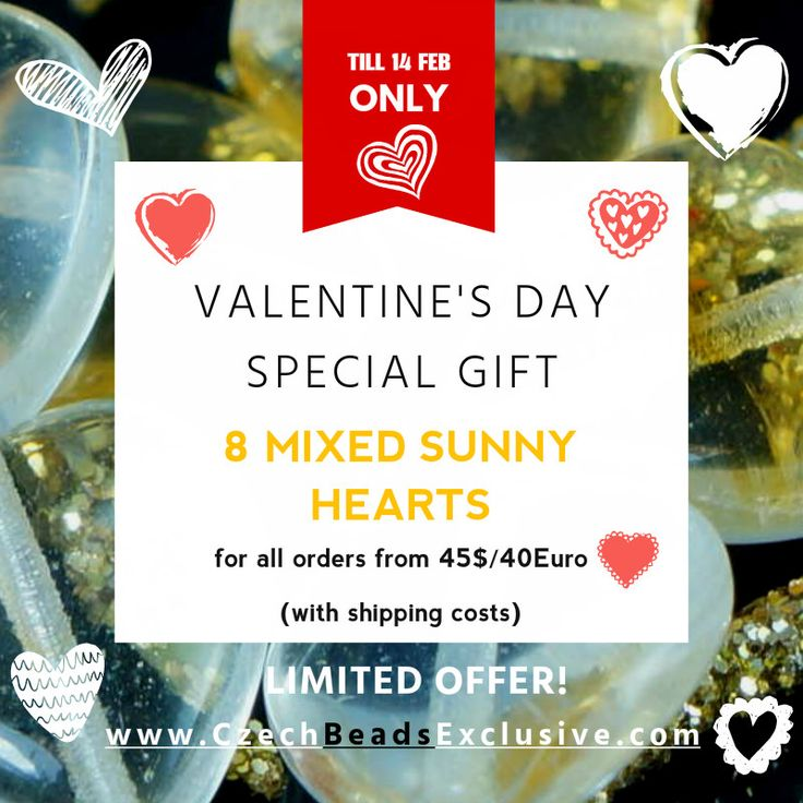 ✔ What's Hot Today: ♥ VALENTINE'S DAY SPECIAL GIFT♥ https://czechbeadsexclusive.com/%e2%99%a5-valentines-day-special-gift%e2%99%a5/?utm_source=PN&utm_medium=czechbeads&utm_campaign=SNAP #CzechBeadsExclusive