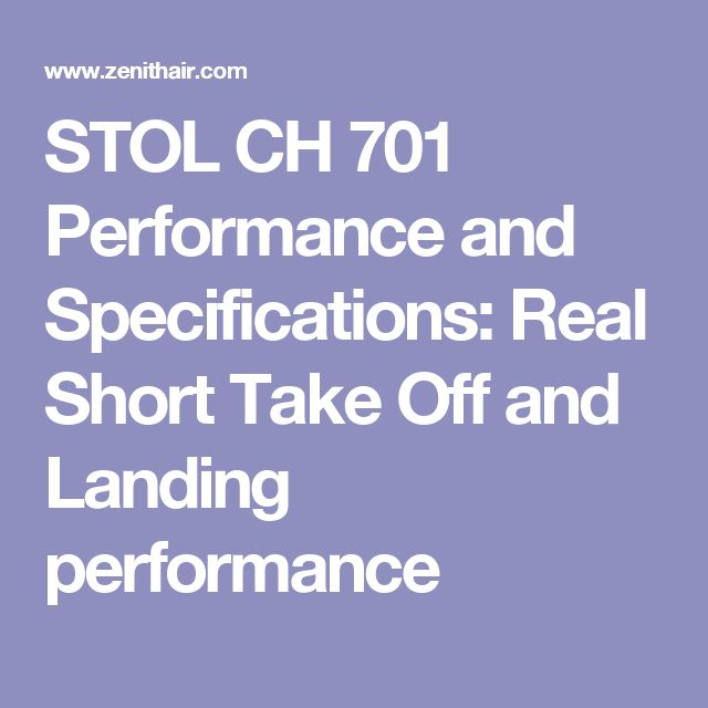 17 best new aviation products images on pinterest aviation stol ch 701 performance and specifications real short take off and landing performance fandeluxe Image collections