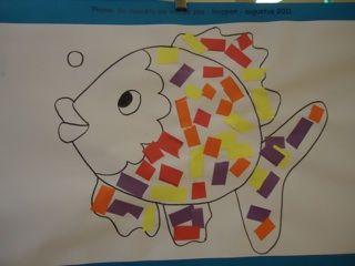 leren knippen, plakken en scheuren De mooiste vis van de zee / Marc