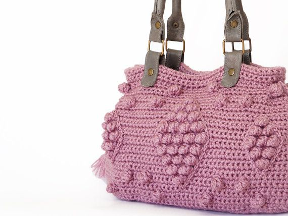 new season bagPink / Rose Crocheted Handbag handbag by Sudrishta, $130.00