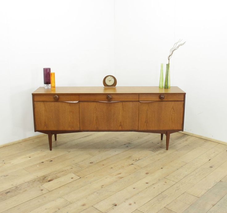Teak Retro Sideboard 60s 70s Danish Style Vintage Mid Century