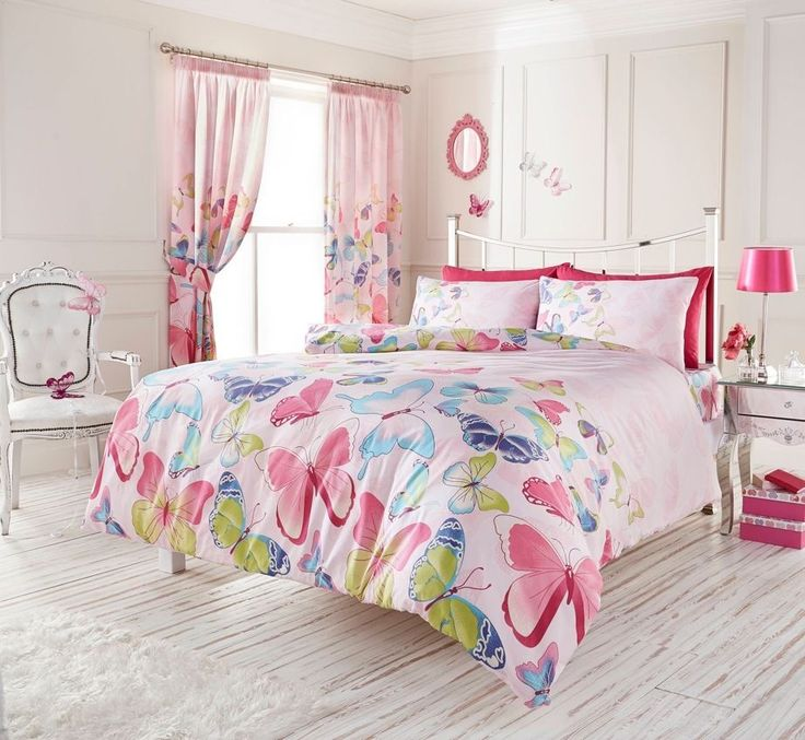 pink butterfly bedding double duvet girls quilt cover u0026 pillowcase bed set for like the pink butterfly bedding double duvet girls quilt cover u0026 pillowcase