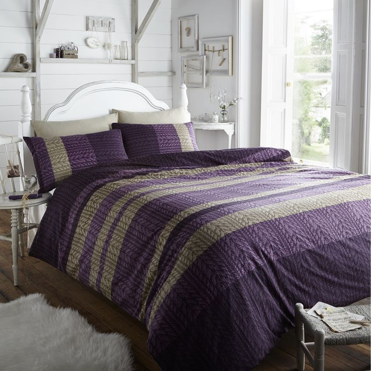 127 best images about sleep in style on pinterest red bedding duck eggs and green bedding - Bedlinnen aubergine ...