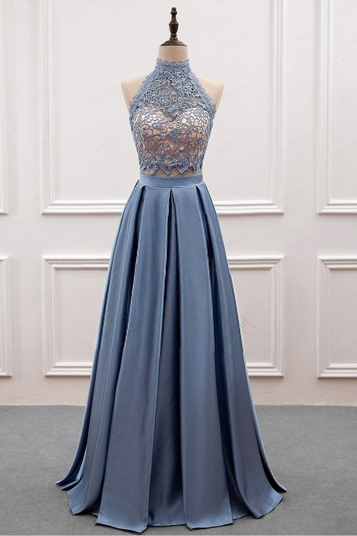 Two Pieces Lace Prom Dress,Long Prom Dresses,Prom Dresses,Evening Dress, Evening Dresses,Prom Gowns, Formal Women Dress Z258