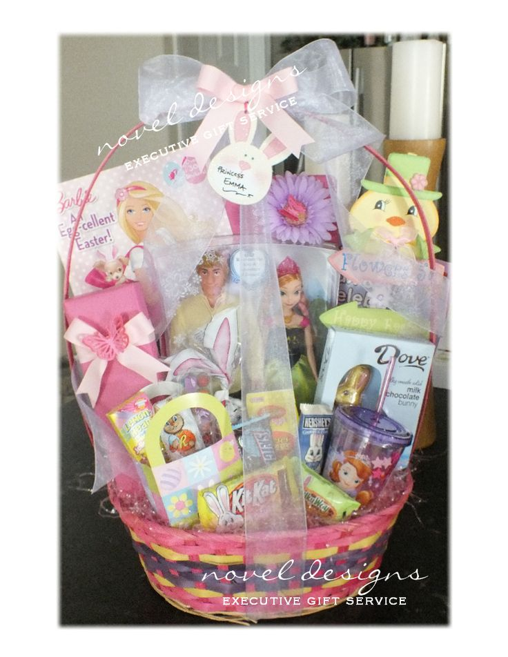 33 best easter gift baskets gifts favors more images on easter gift basket fit for a princess mixed candy with toys books and wrapped negle Images