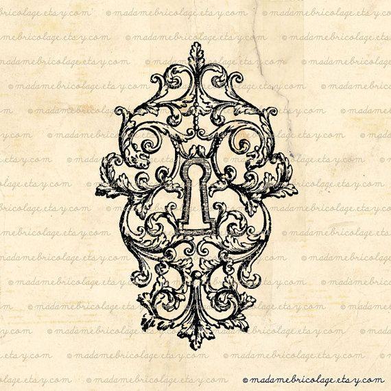 Französische viktorianischen Tastensperre von MadameBricolage