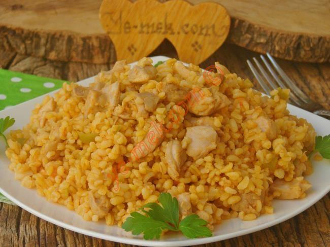 Tavuklu Bulgur Pilavı Resimli Tarifi - Yemek Tarifleri
